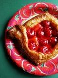 Pâtisserie de cerise Photos libres de droits