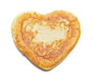 Pâtisserie de coeur d'isolement sur le blanc Images stock