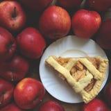Pâtisserie de pâte brisée de tarte aux pommes Image stock