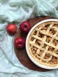 Pâtisserie de pâte brisée de tarte aux pommes Photographie stock