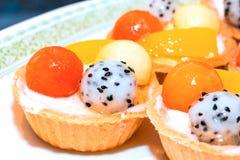Pâtisserie de tarte de fruit image stock