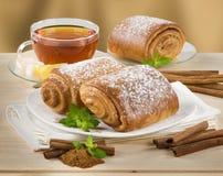Pâtisserie douce de cannelle Images stock