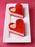Pâtisserie en forme de coeur image libre de droits