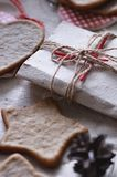 Pâtisserie faite maison de gingembre Image stock