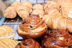 Pâtisserie fraîche de croissants Photo libre de droits