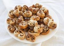 Pâtisserie fraîchement cuite au four Images stock