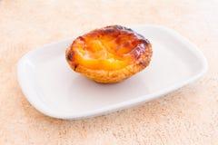 Pâtisserie portugaise de tarte d'oeufs Photographie stock