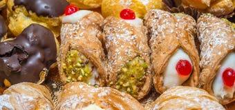 Pâtisseries au loin Photos libres de droits