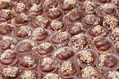 Pâtisseries avec du chocolat et la crème Photo stock