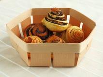 Pâtisseries avec le pavot Image stock
