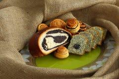 Pâtisseries avec le pavot Images libres de droits