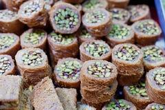 Pâtisseries d'écrou Photos stock