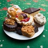 Pâtisseries de fruit et de chocolat image stock