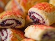 Pâtisseries de Pinwheel de framboise Image libre de droits