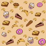 Pâtisseries douces illustration stock