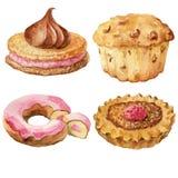 Pâtisseries douces, desserts Photos stock