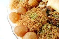Pâtisseries et dessert doux arabes images libres de droits