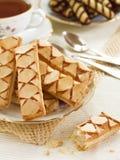 Pâtisseries et thé d'Apple Photos libres de droits