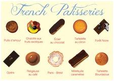 Pâtisseries françaises Image stock