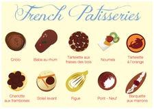 Pâtisseries françaises Photos libres de droits