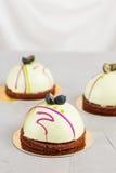 Pâtisseries françaises de mousse Photos libres de droits