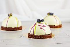 Pâtisseries françaises de mousse Images libres de droits