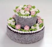 Pâtisseries, gâteau avec des roses image libre de droits
