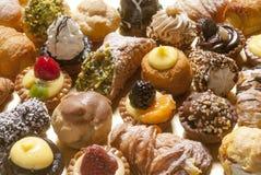 Pâtisseries, pleine photo de cadre Photos libres de droits