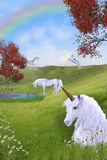 Pâturage de licorne Photos stock