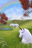 Pâturage de licorne Photos stock