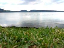 Pâturage et lac images libres de droits