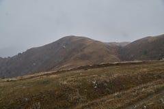 Pâturages de montagne dans le Caucase, région de Svaneti de la Géorgie photos stock