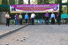 Pétanque chalege in thailand Royalty Free Stock Photography