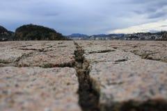 Pìcture de San Sebastian tomado 'de peine de los vientos ' imagem de stock