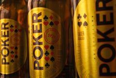 PÃ-³ ker kolumbianisches Bier lizenzfreie stockbilder