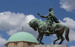 Pécs, Hungria, quadrado de Széchenyi Fotografia de Stock