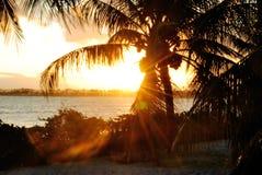 PÃ'r faz o solenoide - por do sol Fotografia de Stock Royalty Free