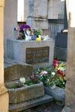 Père Lachaise公墓的吉姆・莫里森 免版税图库摄影