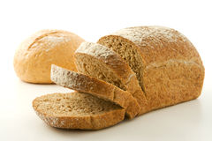 Pães de trigo inteiro saudáveis fotografia de stock royalty free