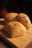 3 pães do ciabatta Imagens de Stock
