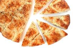 Pão árabe cortado Fotos de Stock Royalty Free