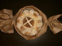 Pão, artístico decorado Imagens de Stock Royalty Free