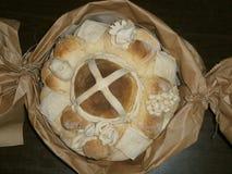 Pão, artístico decorado Fotografia de Stock