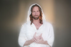 Pão aumentado Páscoa de Handsers da oração foto de stock royalty free