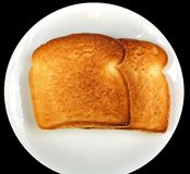 Pão branco brindado Foto de Stock