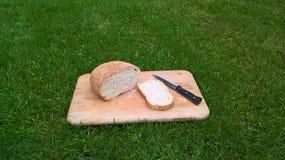 Pão branco caseiro fotografia de stock