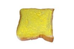 Pão branco com margarina Fotografia de Stock