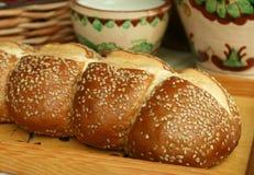 pão branco com sementes Imagem de Stock Royalty Free