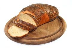 Pão branco com sementes de papoila Fotografia de Stock