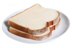 Pão branco cortado imagem de stock